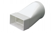 Domus Rigid Duct 110x54-Ø100mm In-Line Adapter Round-Rectangular